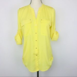 Calvin Klein blouse with hem tabs